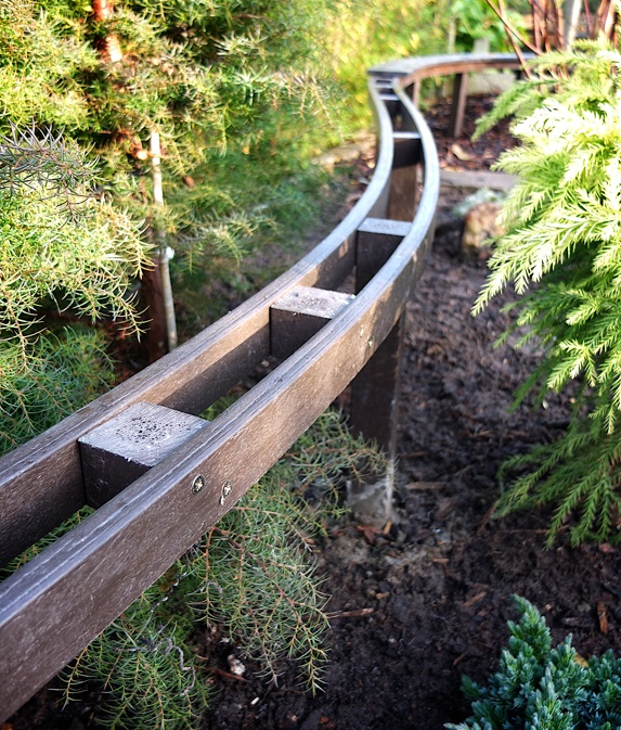 A new approach to installing ladder frame garden rail supports