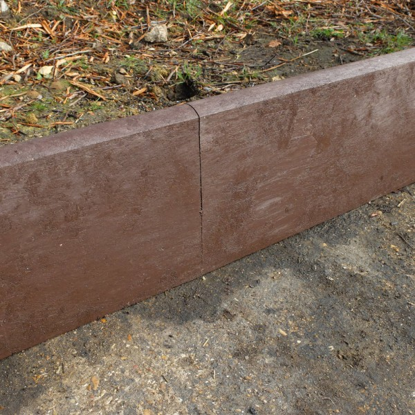Heavy duty Brown 50mm x 260mm x 2.5m Curb Plank