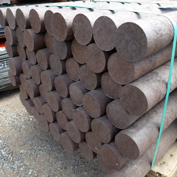 Solid Round Brown 70mm diameter x 2.5m post with a point