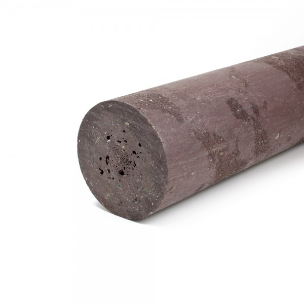 Solid Round Brown 100mm diameter x 2.3m post with a point