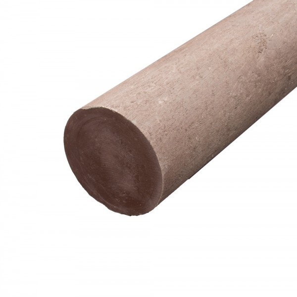 Solid Round Brown 150mm diameter x 1.25m post with a point