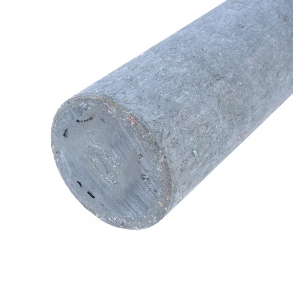 Solid Round Grey 150mm diameter x 1.25m post with a point
