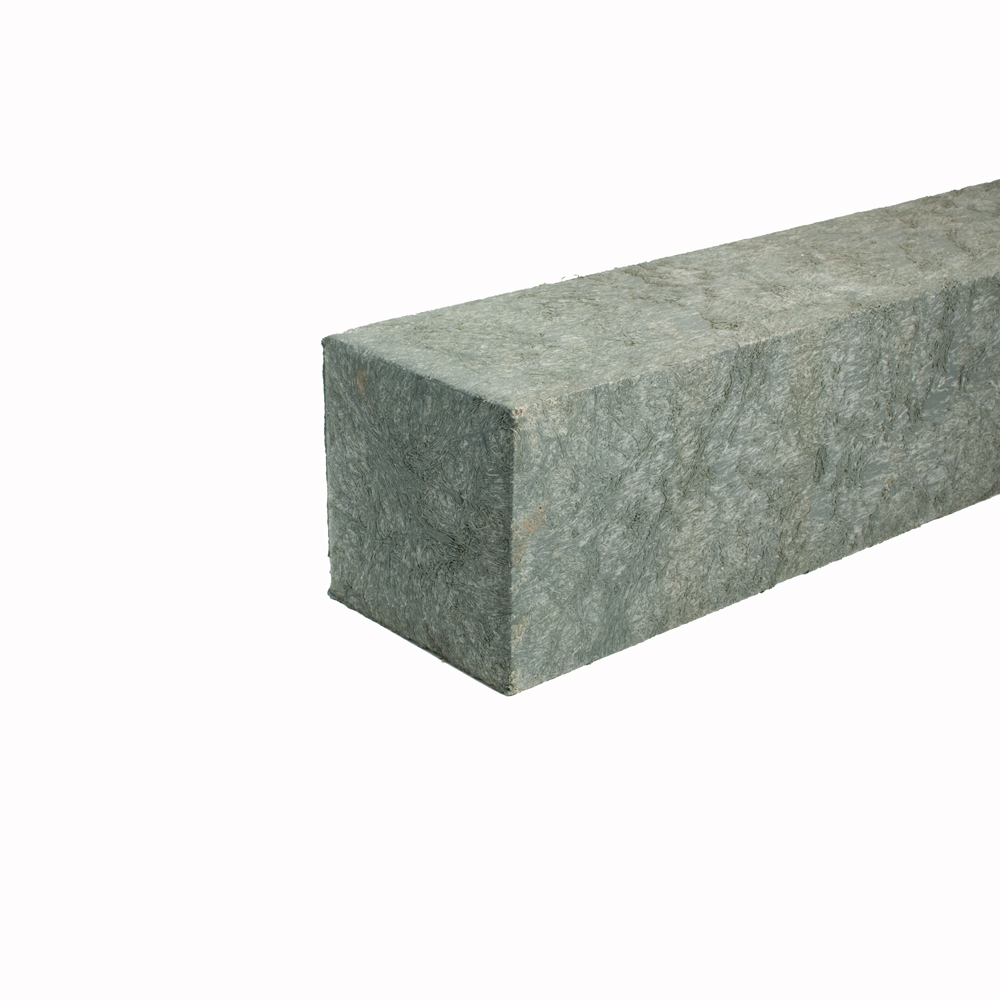 Reinforced square post with a moulded point Grey 90mm x 90mm x 2m