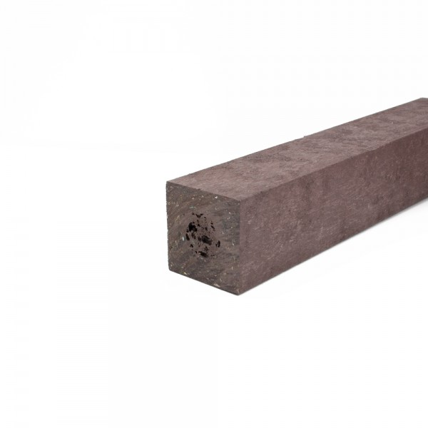Square post with a moulded point Brown 70mm x 70mm x 1.25m