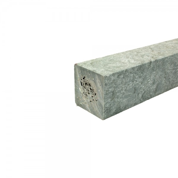 Square post with a moulded point Grey 70mm x 70mm x 2.25m