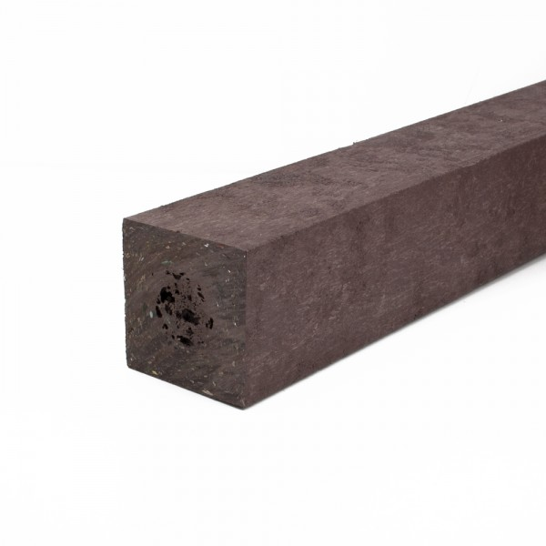 Square post with a moulded point Brown 90mm x 90mm x 1.25m