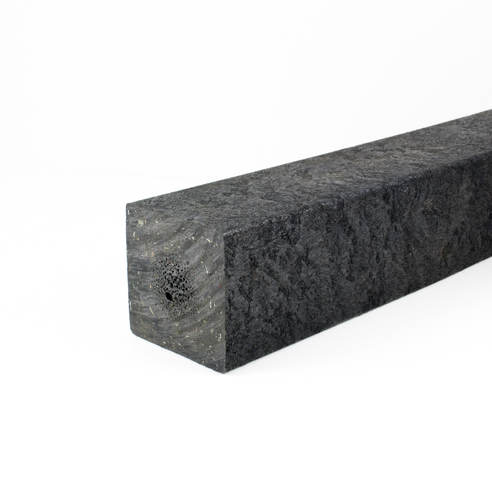 Square post Black 80mm x 80mm x 3m