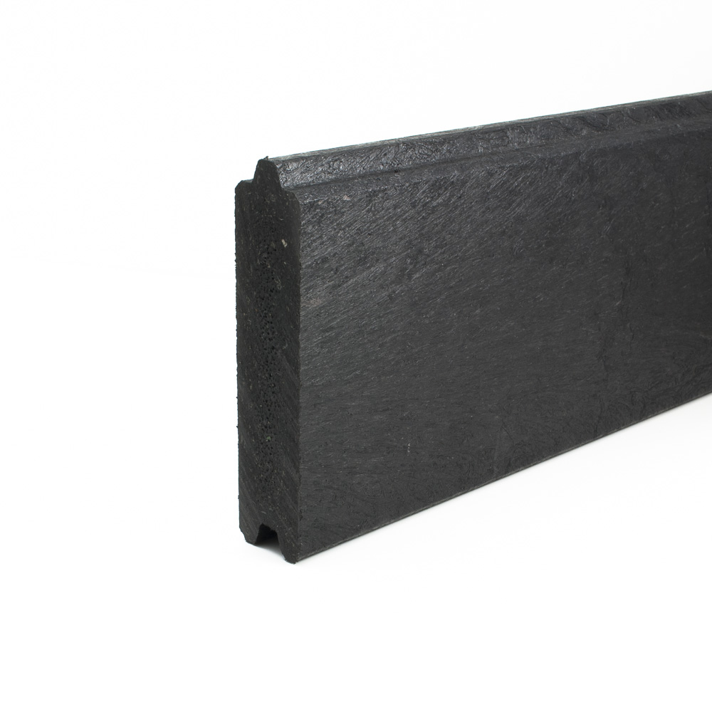 Tongue and Groove plank Black 34mm x 147mm x 2.6m