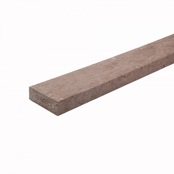 Recycled plastic plank Brown 20mm x 60mm x 1.5m