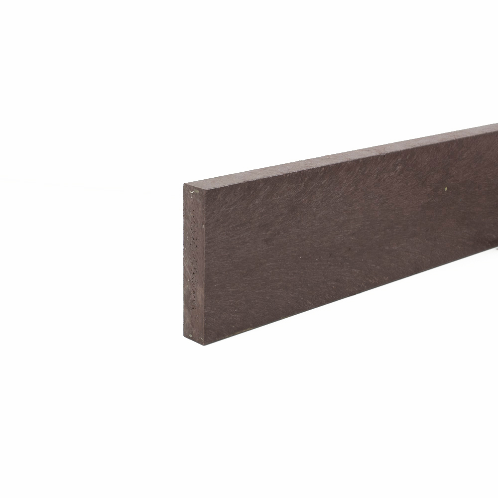Recycled plastic plank Brown 20mm x 100mm x 0.8m