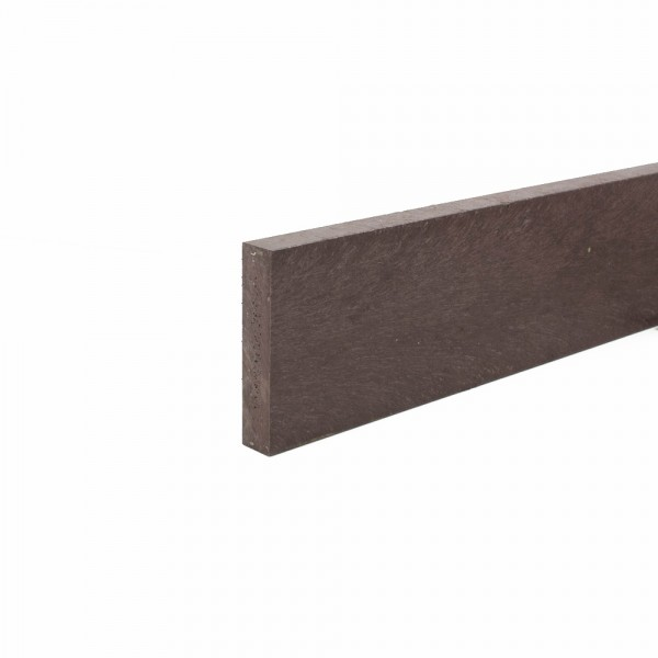 Recycled plastic plank Brown 20mm x 100mm x 1.4m