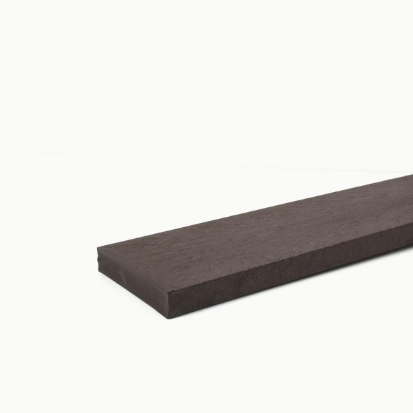 Recycled plastic plank Brown 20mm x 100mm x 2m