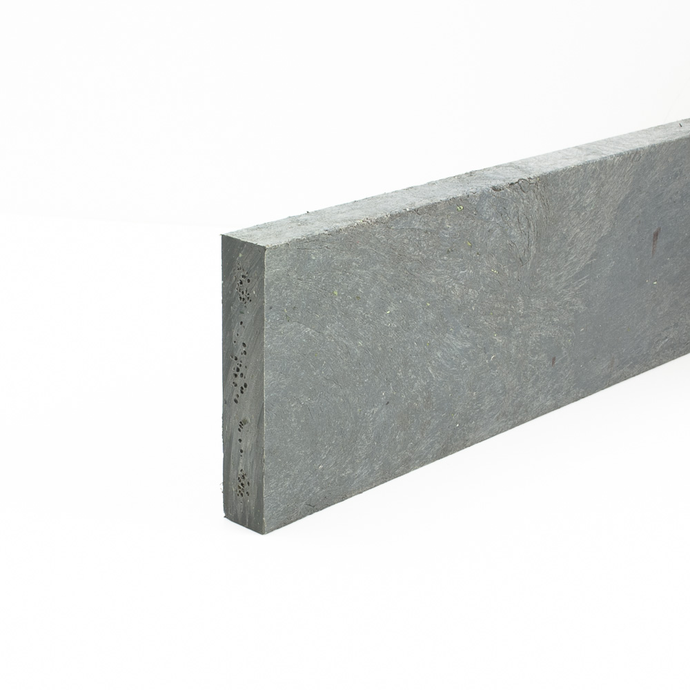 Recycled plastic plank Grey 20mm x 100mm x 0.8m