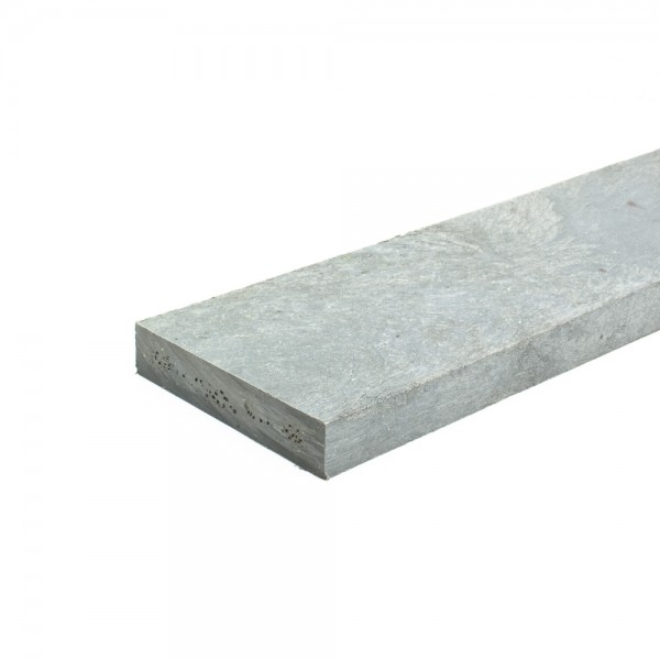 Recycled plastic plank Grey 20mm x 100mm x 2m