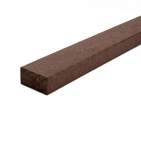 Recycled plastic plank Brown 25mm x 50mm x 3m