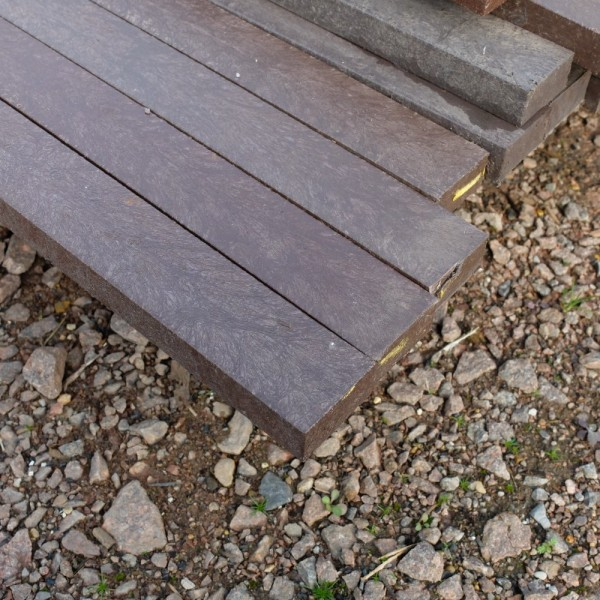 Buy recycled plastic plank brown 25mm x 50mm x 3m for Recycled plastic decking