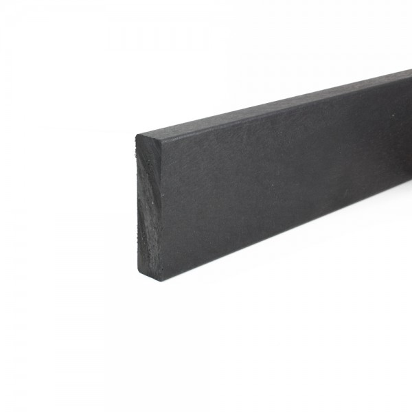 Buy Recycled Plastic Narrow Edging Plank Black 25mm X