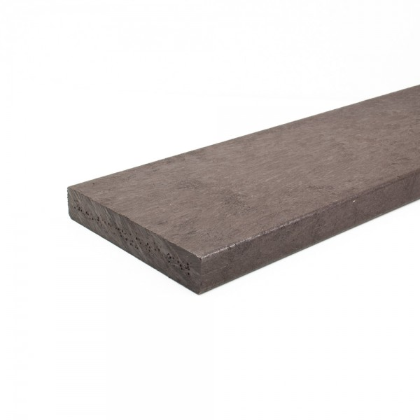 Recycled plastic plank Brown 25mm x 150mm x 3m