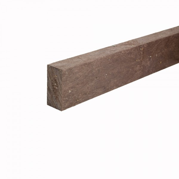 Recycled plastic plank Brown 30mm x 60mm x 2m