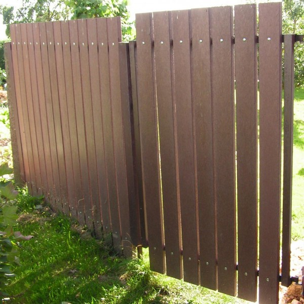 Recycled plastic plank Brown 30mm x 100mm x 0.8m