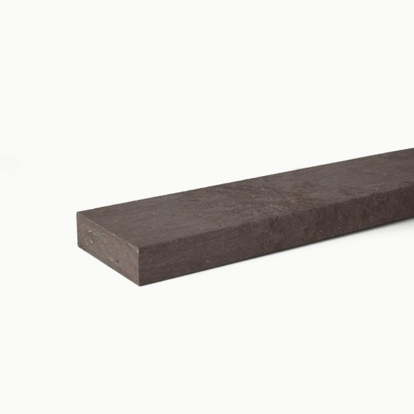 Recycled plastic plank Brown 30mm x 100mm x 2m