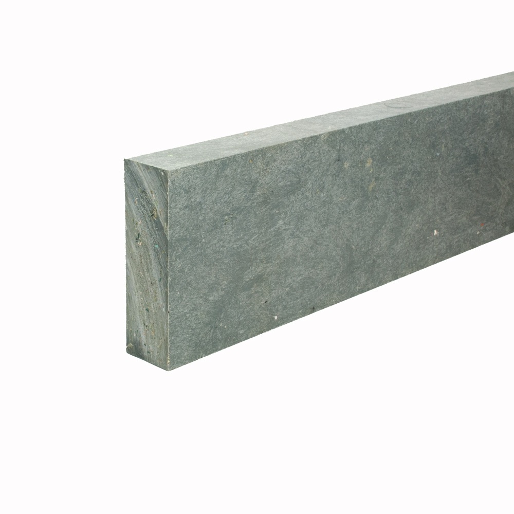 Recycled plastic plank Grey 30mm x 100mm x 2.8m