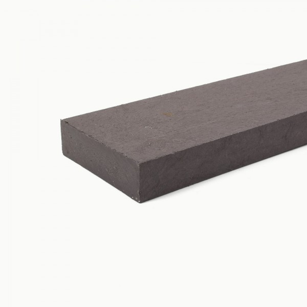 Recycled plastic plank Brown 35mm x 120mm x 2m