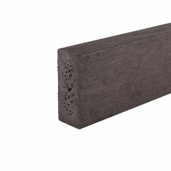 Recycled plastic plank Brown 38mm x 90mm x 2.5m