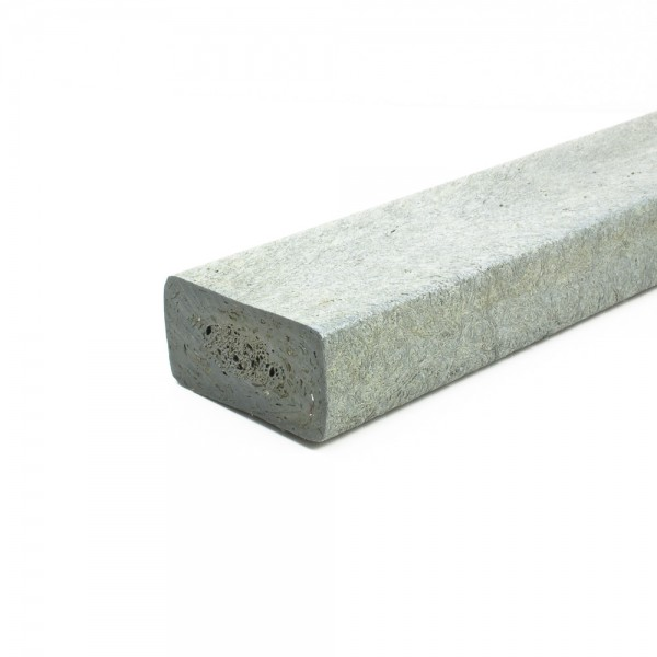 Recycled plastic plank Grey 40mm x 80mm x 2m