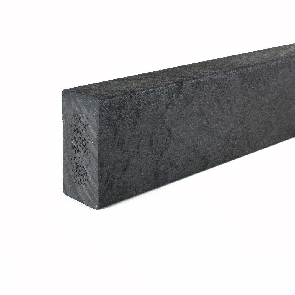 Recycled plastic plank Black 50mm x 100mm x 3m