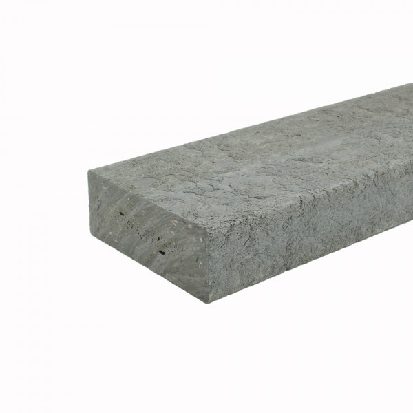 Recycled plastic plank Grey 50mm x 120mm x 2m