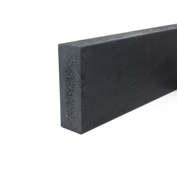Recycled plastic plank Black 50mm x 150mm x 3m