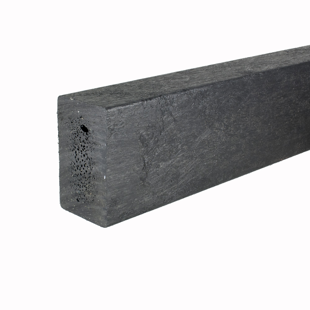 Recycled plastic plank Black 60mm x 100mm x 3m