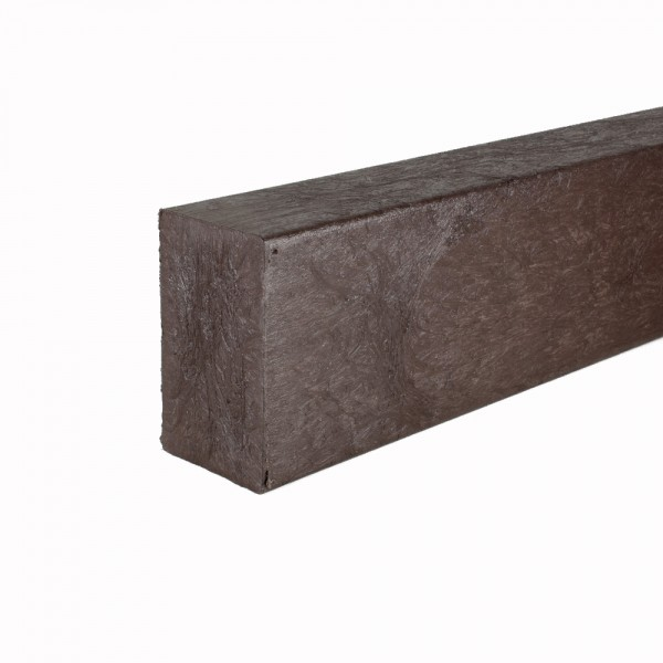 Recycled plastic plank Brown 60mm x 100mm x 3m