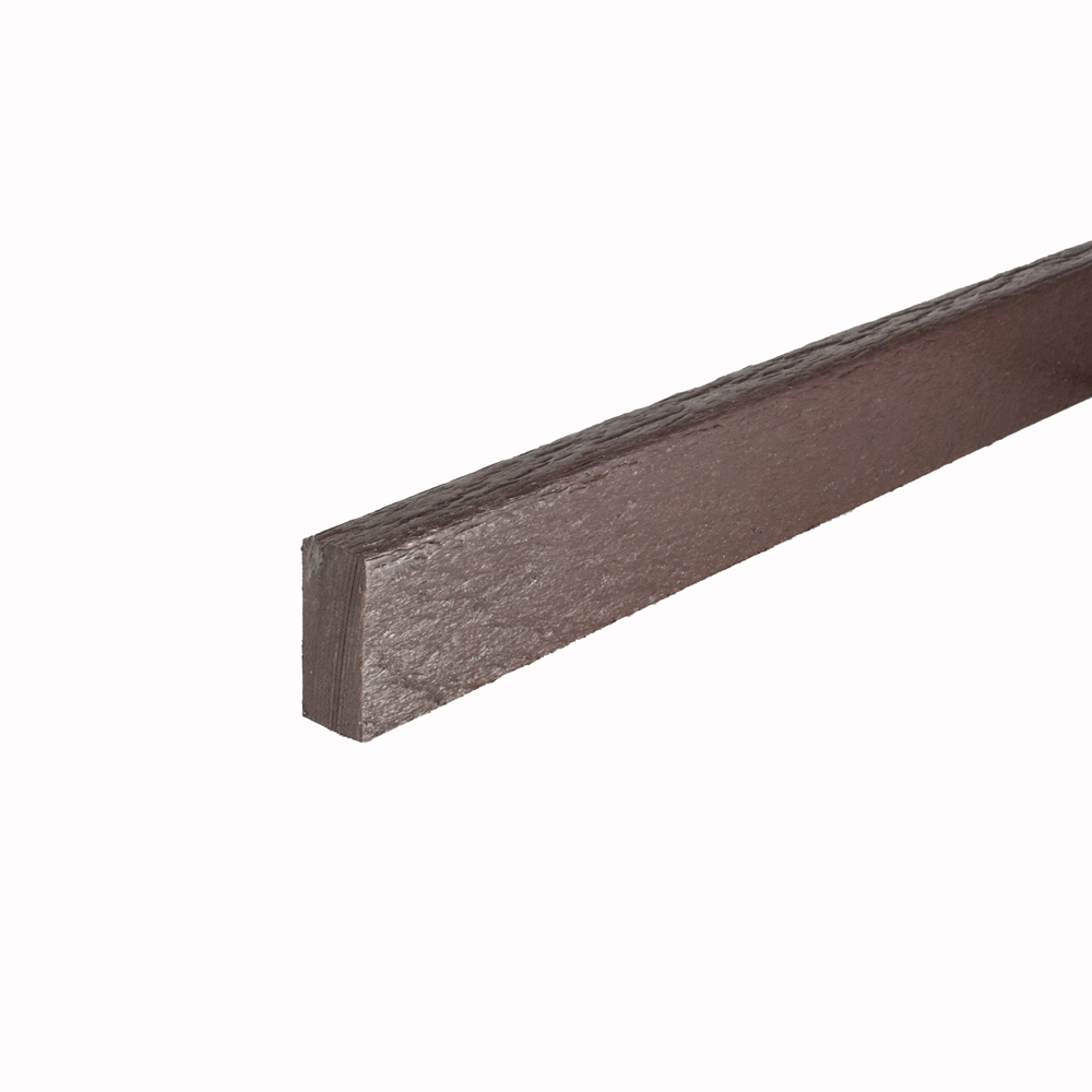 Brown 18mm x 42mm x 3m Mini Flexible Edging Plank