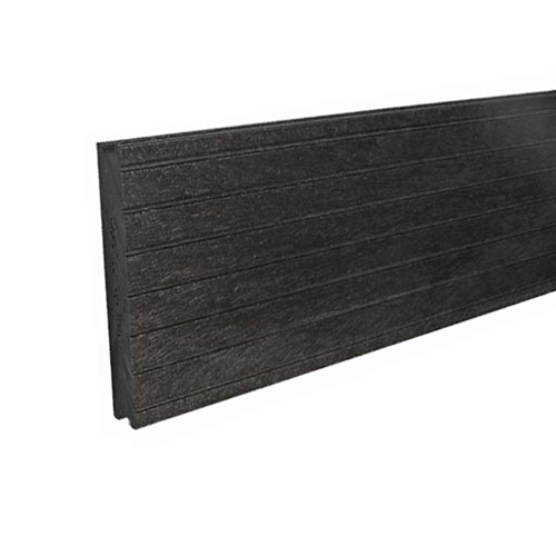 Plastic Decking Boards - grooved Black 28mm x 195mm x 1000