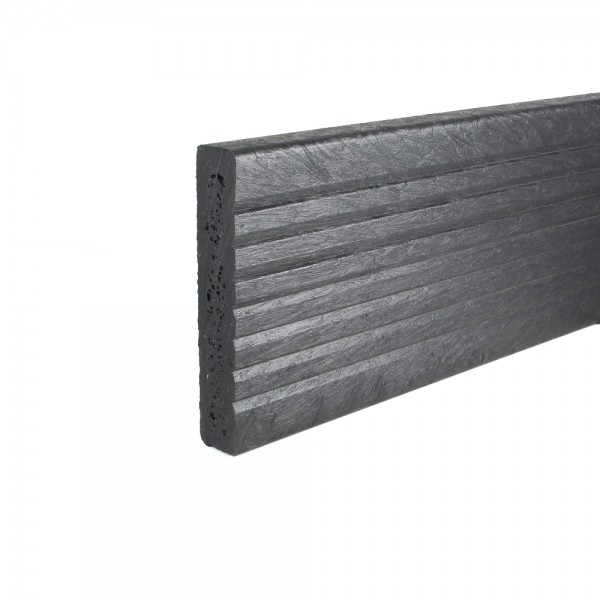 Plastic Decking Boards - grooved Black 27mm x 150mm x 3600