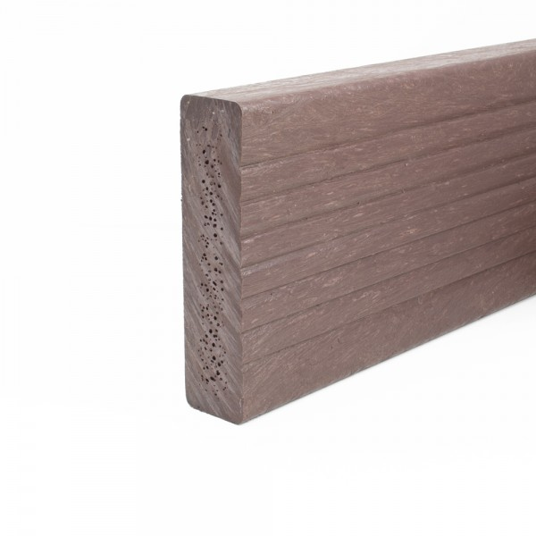 Plastic Decking Boards - grooved Brown 38mm x 150mm x 3600