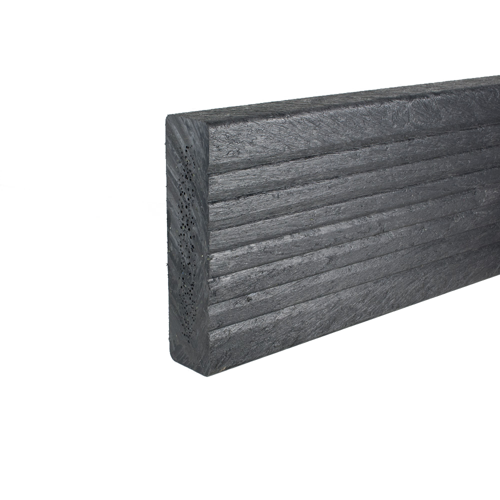 Plastic Decking Boards - grooved Black 38mm x 150mm x 3600