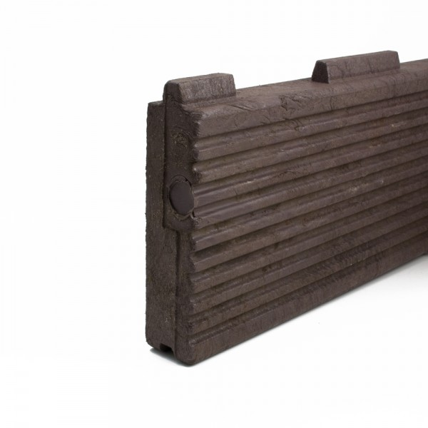 Plastic Decking Boards - grooved T & G Brown 40mm x 170mm x 3000