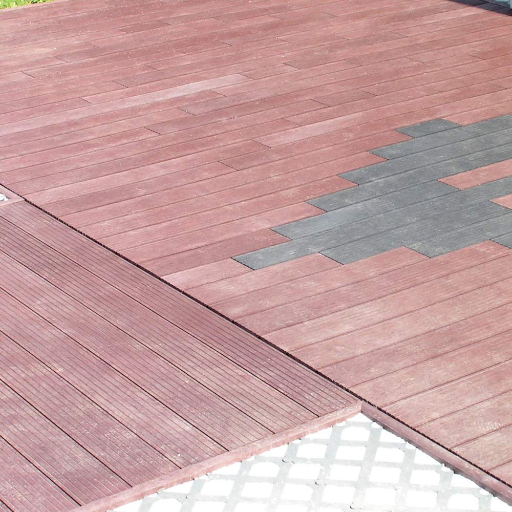 Grooved decking price per sq. m: Brown 28mm x 195mm