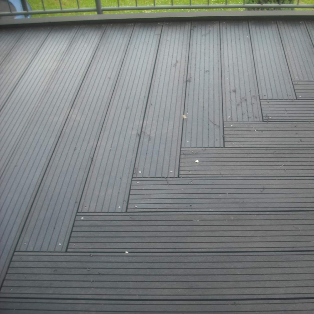 Grooved decking price per sq. m: Black 28mm x 195mm