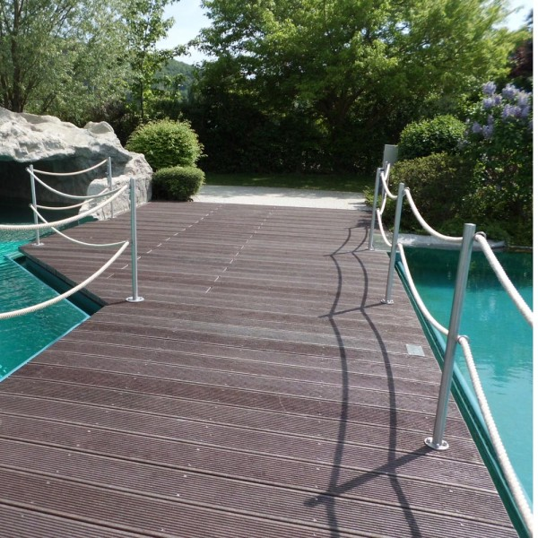 Grooved decking price per sq. m: Brown 40mm x 197mm