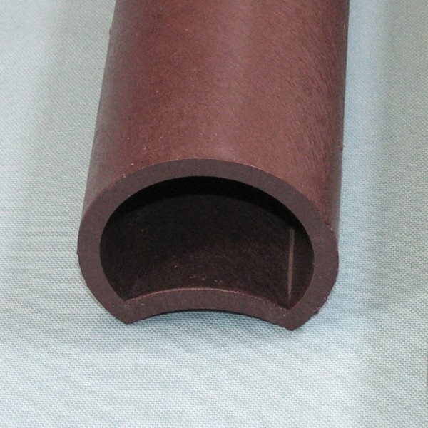 Hollow Ogee Palisade Post Brown 68 diametereter x 400mm