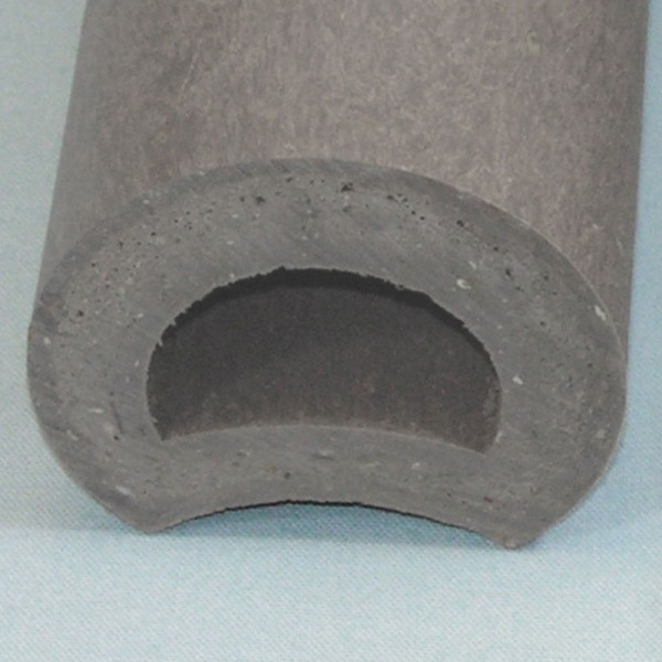 Hollow Ogee Palisade Post Grey 100mm diameter x 400mm