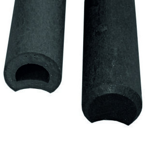 Hollow Ogee Palisade Post Black 110mm diameter x 600mm