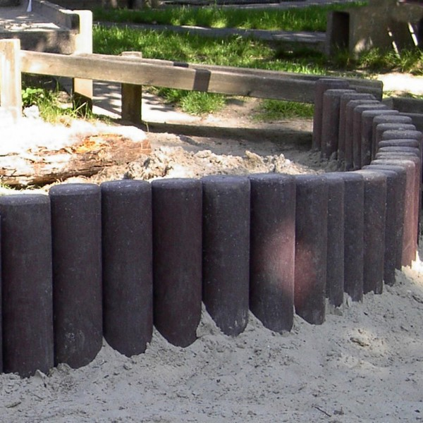 Hollow Palisade without Point Brown 100mm diameter x 600mm