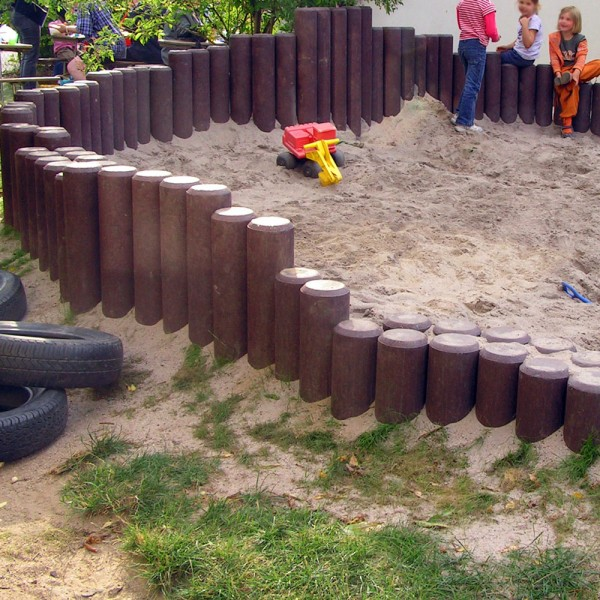 Hollow Palisade without Point Brown 150mm diameter x 600mm