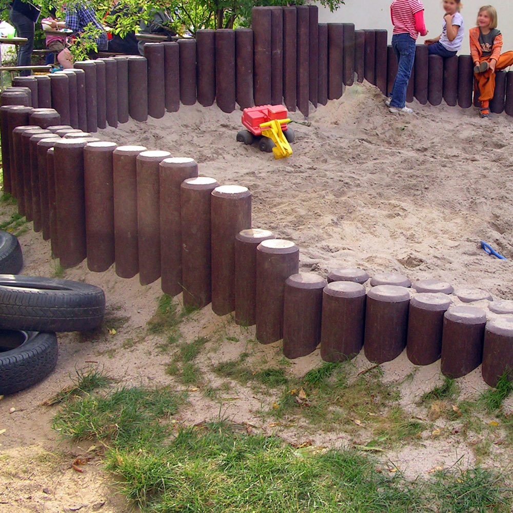 Hollow Palisade without Point Brown 150mm diameter x 800mm