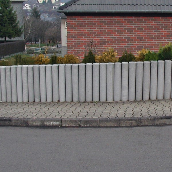 Hollow Palisade without Point Grey 120mm diameter x 1000mm